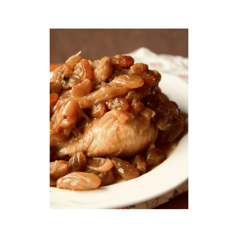 Tajine poulet raisins secs