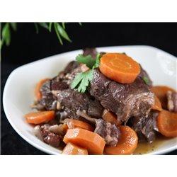 Joue de bœuf braisée aux carottes