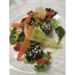Thon rouge mariné au soja et citronnelle